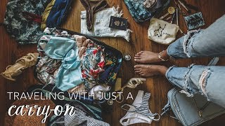 How To Travel Carry-On Only // Packing Tips