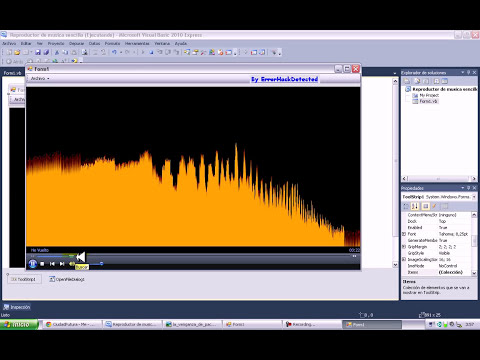 Tutorial crear reproductor de musica con visual basic 2010
