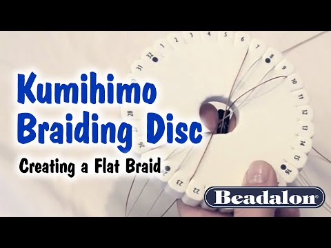 Kumihimo Braiding Disc - Creating a Flat Braid