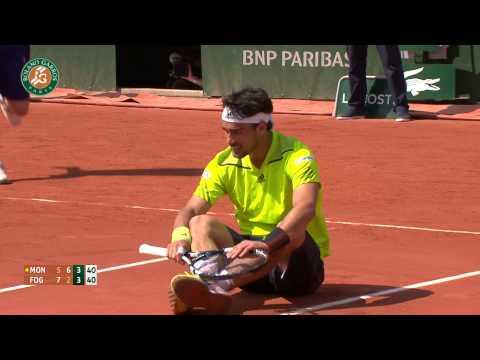 Roland Garros 2014 Saturday Highlights Monfils Fognini