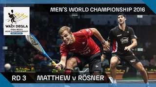 Squash: Mosaad v Adnan - Men's World Championship 2016 Rd 2 Highlights