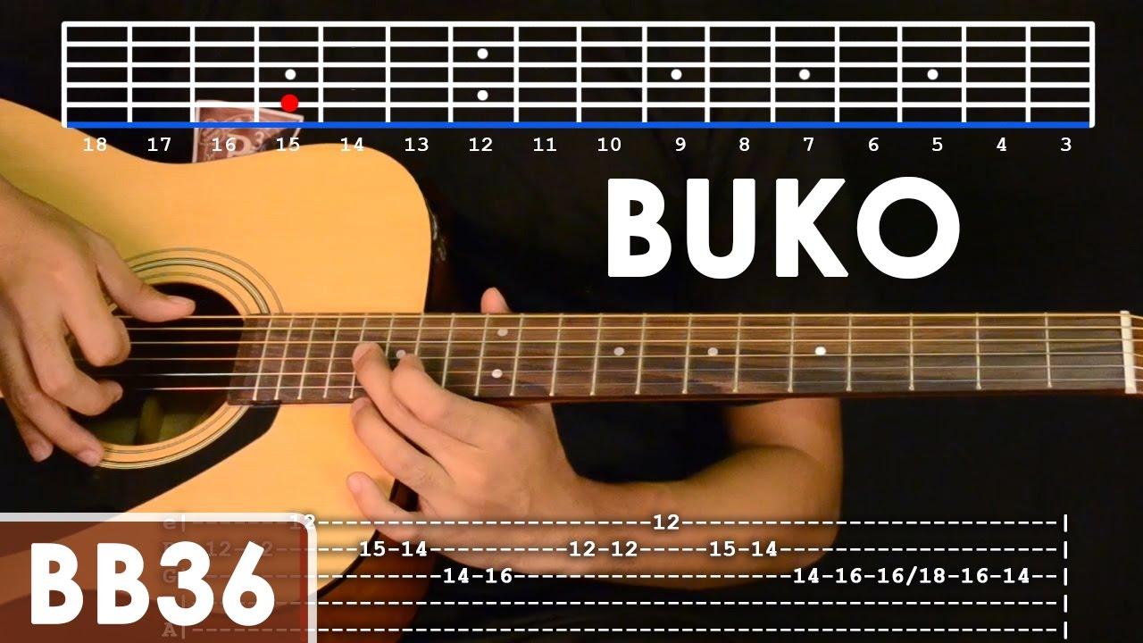 Buko - Jireh Lim Guitar Tutorial (includes intro lead and rhythm) - YouTube
