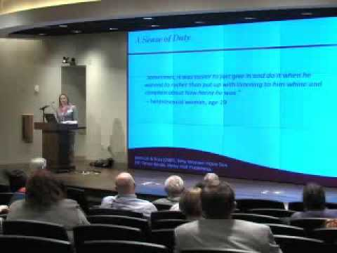 Why do women have sex? (David Buss & Cindy Meston at CASW 2009)