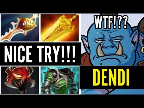 Dota 2! Do Not Try This at Home! DENDI CARRY ORGE BUILD! WTF Pro?