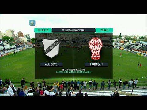 F útbol en vivo. All Boys - Huracán. Fecha 21. Torneo Primera B Nacional 2014. FPT.