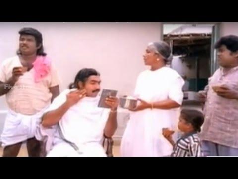 Goundamani And Vijayakumar Shaving Comedy From  Rakkayi koyil