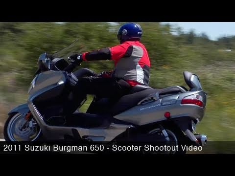 MotoUSA Scooter Shootout:  2011 Suzuki Burgman 650