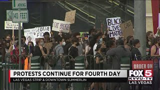 Protests in Las Vegas, Reno for a fourth night