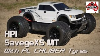 HPI SavageXS on 3S with Proline Caliber Tyres