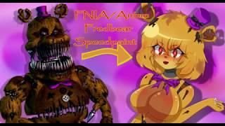 Speedpaint|FNIA Anime Nightmare Fredbear[FNAF 4]