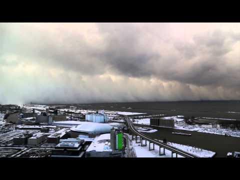 Time-Lapse of Buffalo Lake Effect Snow - Nov 18 2014