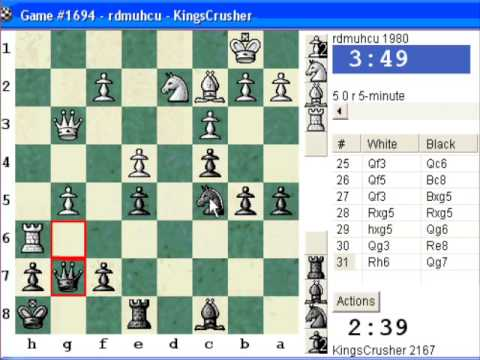 Chessworld.net : Blitz #262 vs. rdmuhcu (1980) - Queen's pawn: Torre attack (A40) (Chessworld.net)