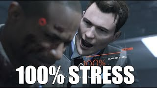 "Detroit Become Human - ""What Happens If"" You Reach 100% Level of Stress  - The Interrogation Scene"
