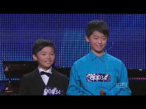 Oscar & Joshua Han -  Schoolboys - Australias Got Talent 2013 - Audition [FULL]