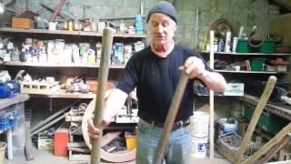 Tool handles made from hazel saplings.