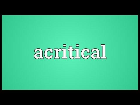 Header of acritical