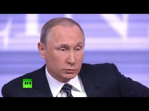 Владимир Путин начал пресс-конференцию с анекдота