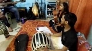 Pidare Polasher Bon + Saaltole... Folk Jam by Urmi, Kunal, Tamal and Saikat