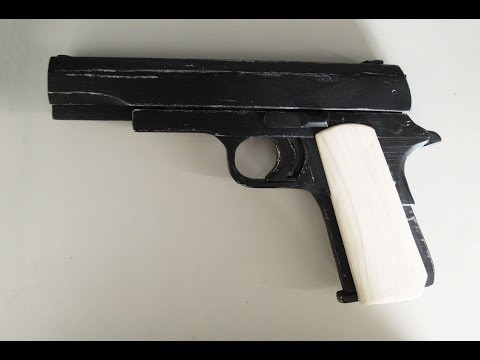 Blowback Rubber band Gun - Tutorial  : Government Type