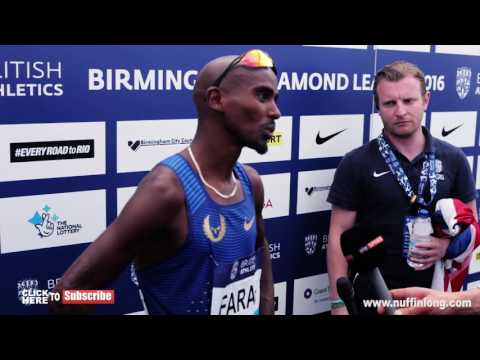 MO FARAH AFTER BREAKING THE BRITISH 3000M RECORD AT THE DIAMOND LEAGUE 2016 | NUFFIN'LONG'TV