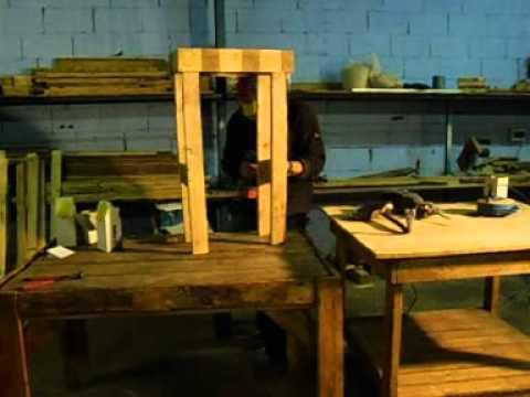 Muebles de palets mesa de cocina part youtube - Mesa de palets ...