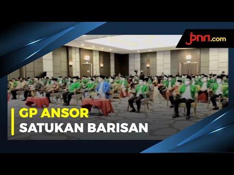 Jokowi Rangkul GP Ansor Satukan Visi Tangani Pandemi Covid-19