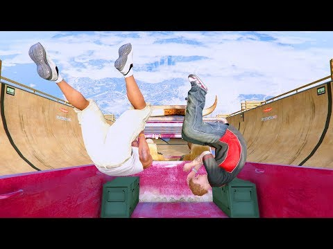 GTA 5 Crazy Jumper/Falls compilation #7 (GTA 5 Fails Funny Moments/Ragdolls)