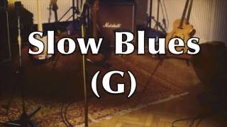 Slow Blues Backing Track - A Healing Feeling (G)