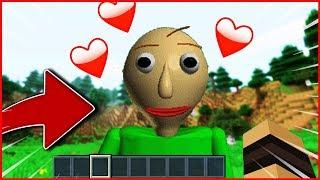 BALDI TOMBE AMOUREUX DE MOI SUR MINECRAFT ❤️ !! Troll Minecraft ! Parodie Baldi