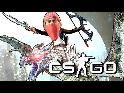 ОСЕДЛАЛ ДРАКОНА ИЗ SKYRIM! - CS:GO (Мини-Игры)