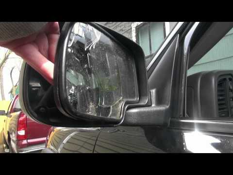 How To Install Replace Side Rear View Mirror Chevy Silverado Avalanche ...