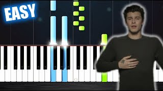 Download Lagu Shawn Mendes - In My Blood - EASY Piano Tutorial by PlutaX Gratis STAFABAND