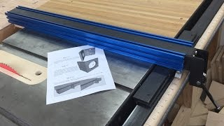 Table saw fence plans are up!