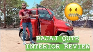 2019 Bajaj Qute Interior Review - Basic but Spacious? (Hindi + English)