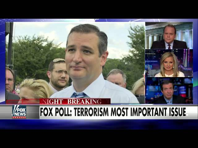 Which 2016 candidate has most effective message on terror?