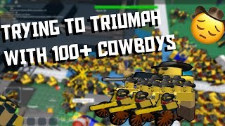 Trying to Triumph with 100+ Cowboys! [ROBLOX Tower Defense Simulator]