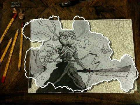 Afro Samurai Kuma Drawings Drawing Jinnosuke/kuma Afro