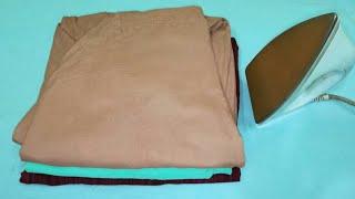 How to Iron & fold Salwar/Iron Indian Ethnic Clothes in Hindi [with English Subtitles] |Anupama Jha