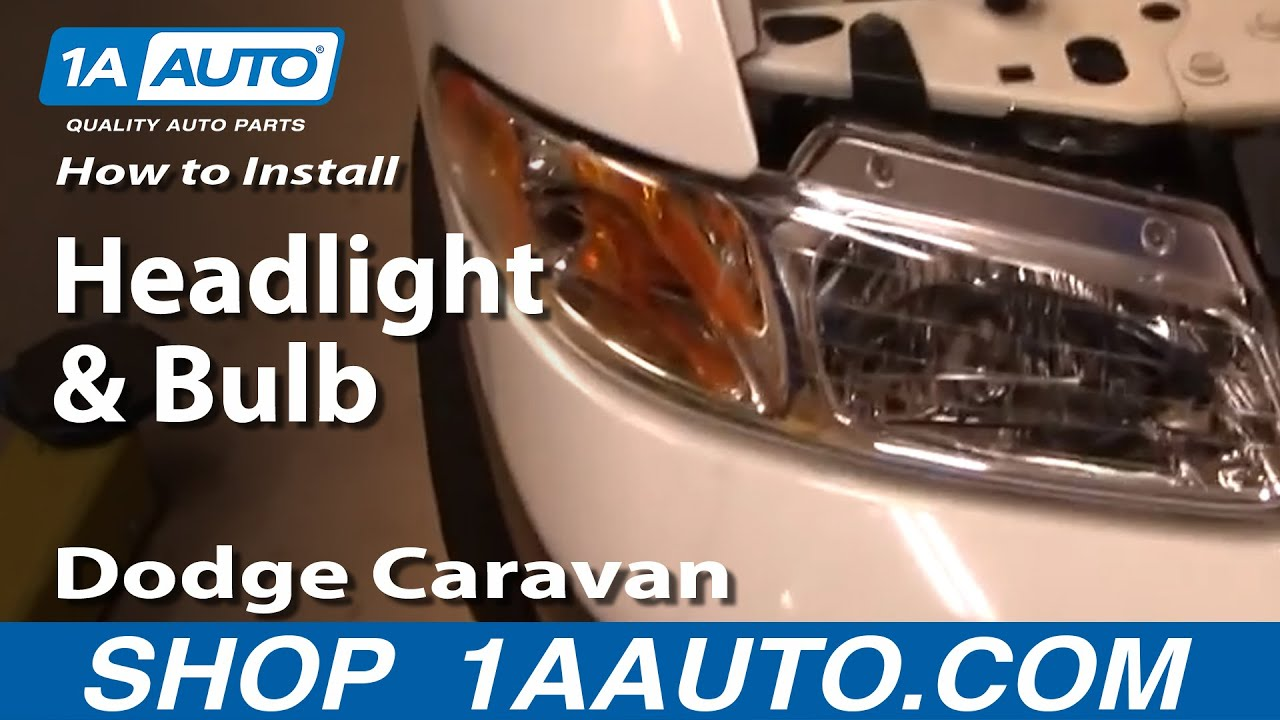 How To Install Replace Headlight And Bulb Dodge Caravan 96