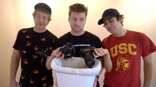 PRETENDING TO THROW AWAY CAMERAS FOR CLICKBAIT (LOL WHO WOULD THROW AWAY A CAMERA!??)