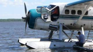 Excellent Adventures DHC-3 C-FBEO departure from Lac Seul, Ontario, Canada
