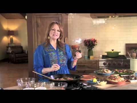 The Pioneer Woman Ree Drummond demonstrates her spring stir fry recipe