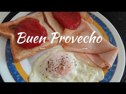 """Receta: Desayuno """"quédate en casa"""" breakfast"""