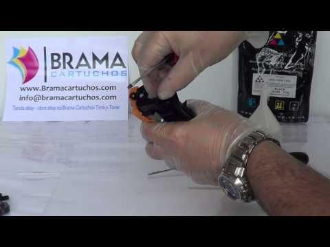 Como Recargar el cartucho Brother Tn1050 instalar engranaje de reseteo. DCP1510 HL1110 HL 1112
