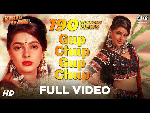 Gup Chup Gup Chup Video Song - Karan Arjun | Mamta Kulkarni | Alka Yagnik & Ila Arun