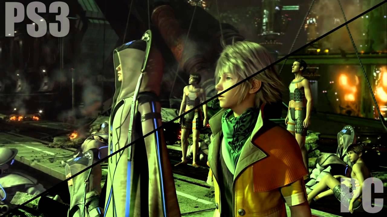 Final Fantasy XIII PS3 Vs PC Pre Rendered CGI Cut Scene