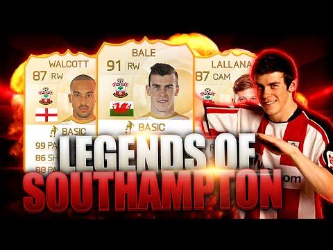 LEGENDS OF SOUTHAMPTON: BALE LALLANA WALCOTT! FIFA 15 ULTIMATE TEAM