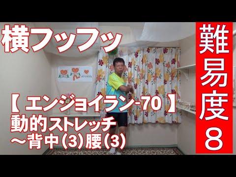 #70 『動的ストレッチ』背中(3)腰(3)横フッフッ→難易度8