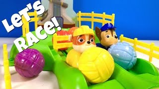 Paw Patrol Games! Pup Racers Win Toy Surprises! Pup High Jump Contest | Fizzy Toy Show