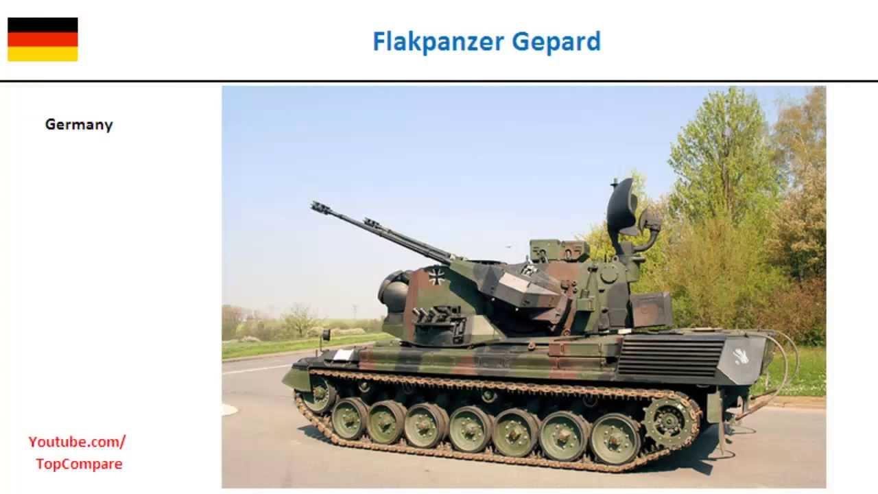 Gepard Self-propelled Anti-aircraft Gun Gepard Anti-aircraft Gun